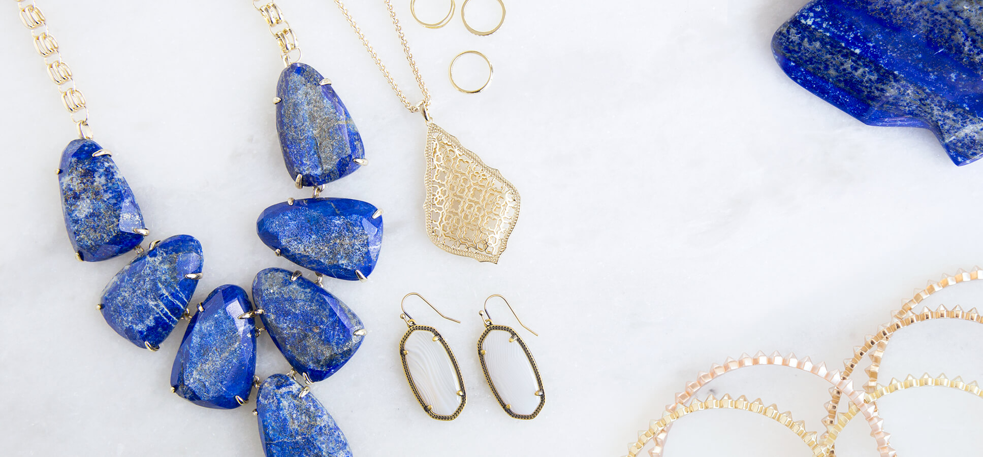 Kendra Scott Fall 2016 Gold and Lapis jewelry