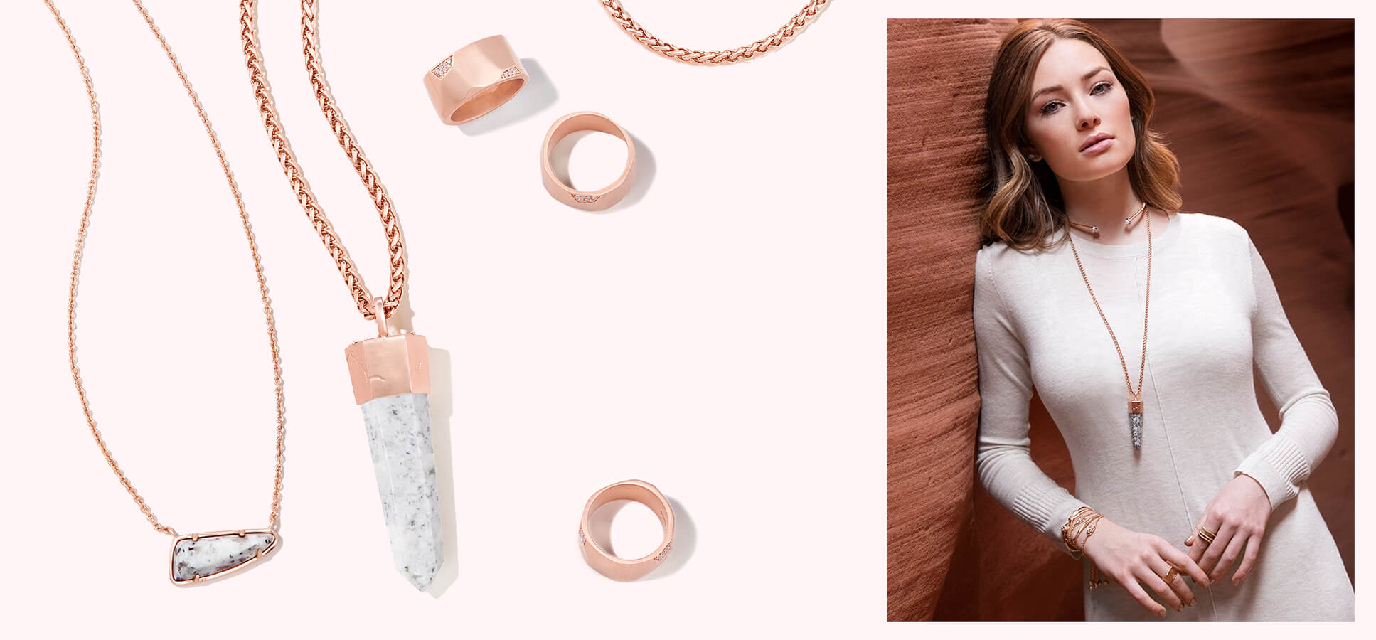 Kendra Scott Fall 2016 Gray Granite and Rose Gold