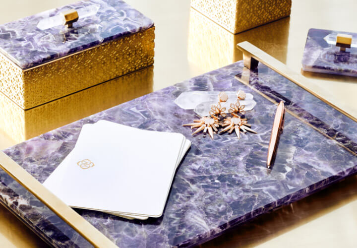 Home Collection stone trays and boxes
