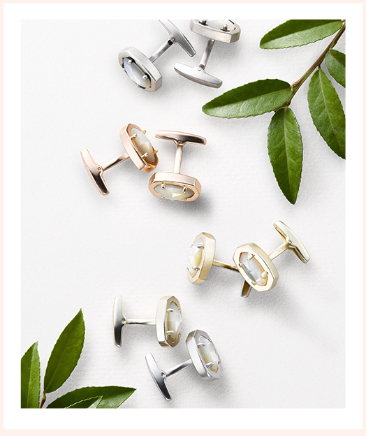 Kendra Scott Design Your Own Color Bar cufflinks for your groom