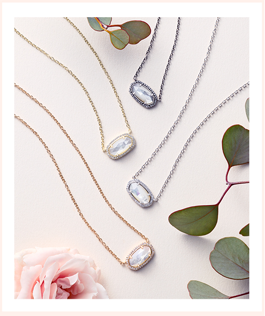 Kendra Scott Design Your Own Color Bar necklace for your big day