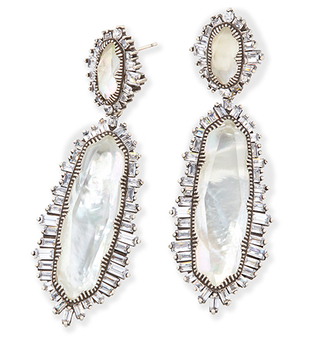Kndra Scott Katrina Statement Earrings on white