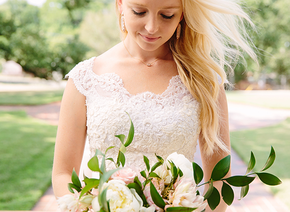 Katie - Real Bride - wearing Kendra Scott Bridal Collection