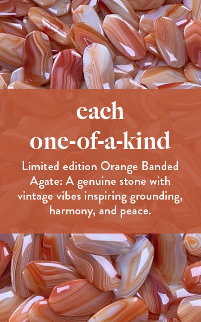 Orange Banded Agate - Limited Edition