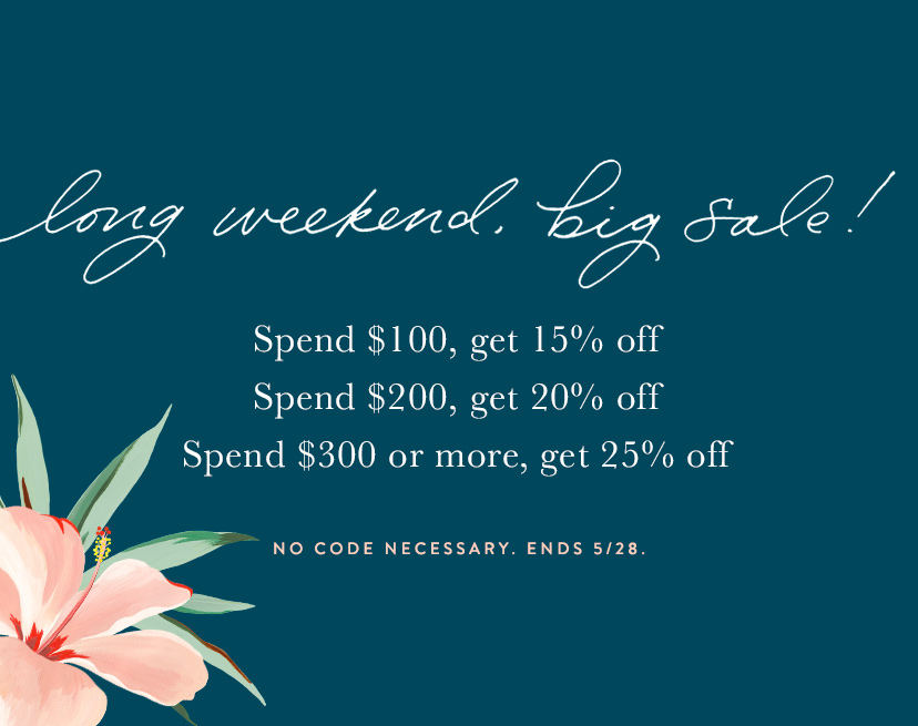 Buy More, Save More Memorial Day Sale