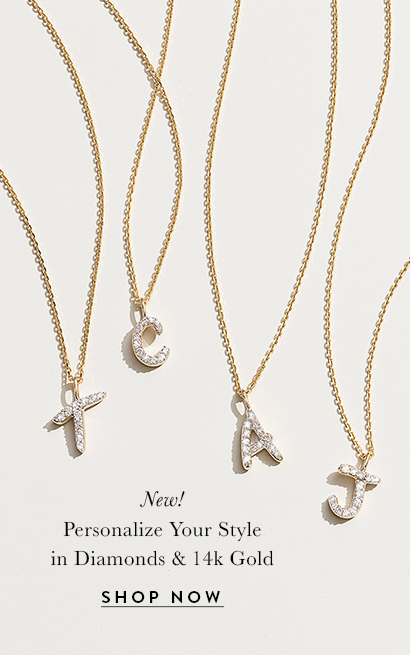 Kendra Scott Diamond Letter Pendant Necklaces