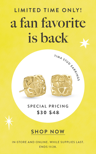 Kendra Scott Exclusive $30 Price Tima Earrings