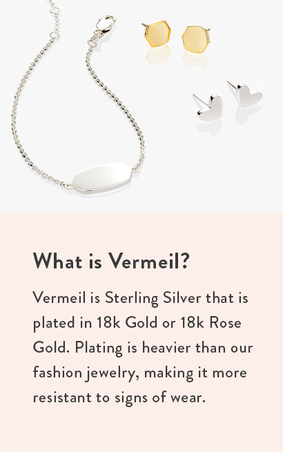 Kendra Scott Sterling Silver Gold Vermeil Jewelry