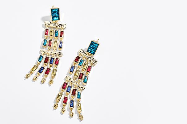 Jewel-toned earrings